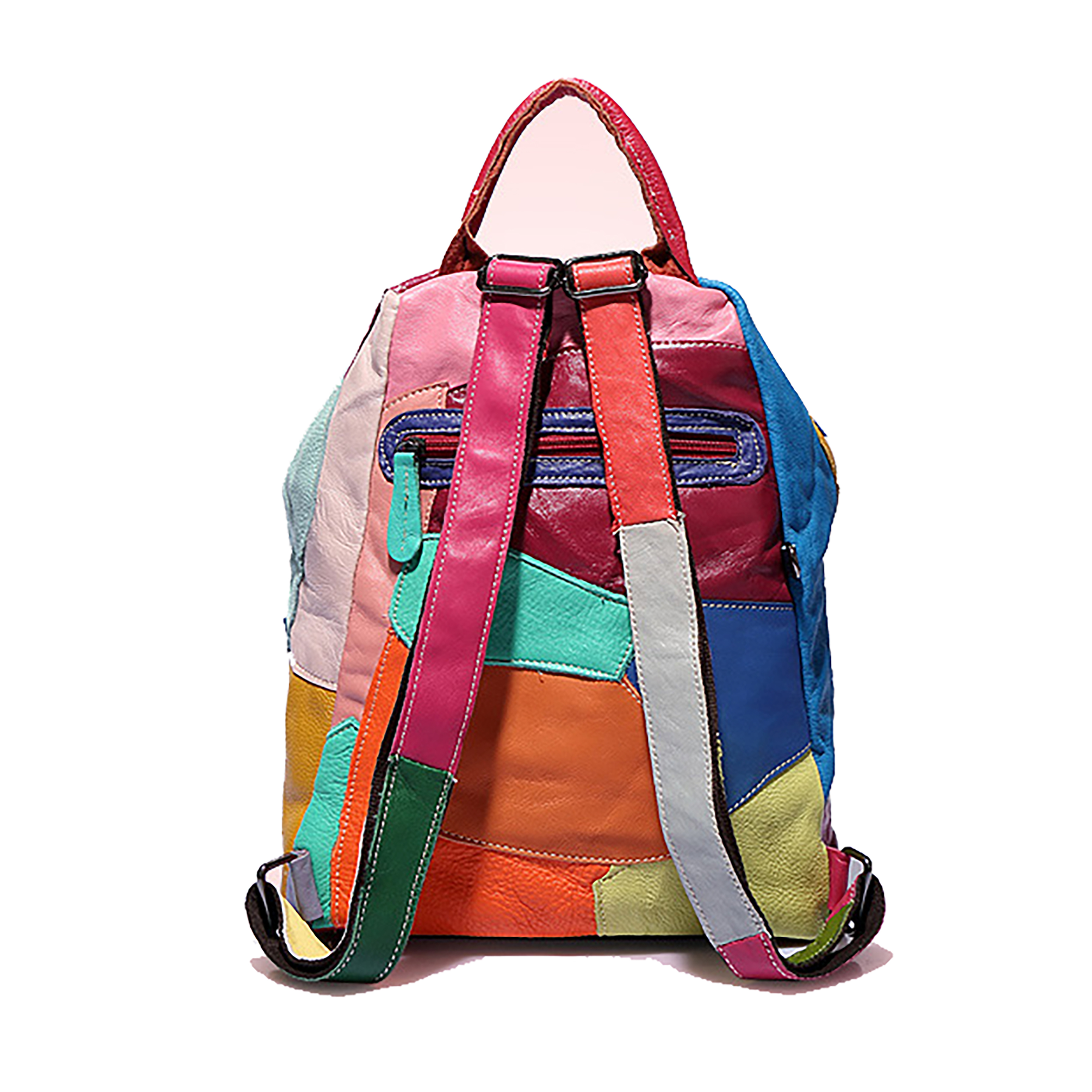 Female Waterproof backpack classic High quality Cowhide leather Backpack Muti-color   and Black backpack  fashion Women Backpack