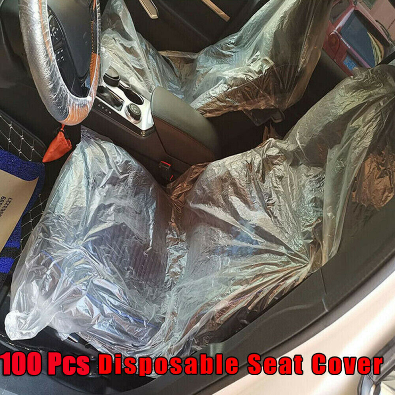 10 pcs Disposable Steering Wheel Cover 10 pcs Disposable Car Seat Cover 140 x 80 cm 10 pcs Disposable Gear Lever Cover