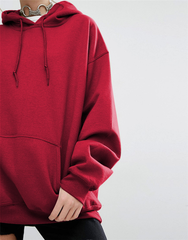 GUMNHU Women Fleece Hoodie Sweatshirts Winter Japanese Fashion 19 Oversize Ladies Pullovers Warm Pocket Hooded Jacket 12