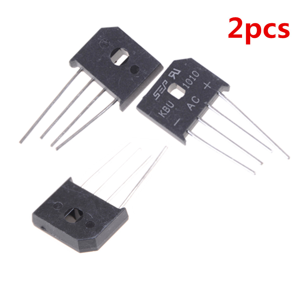 2PCS KBU1010 Diode Bridge Rectifier Connectors 10A 1000V Kbu1010 -55 - +55 Centigrade
