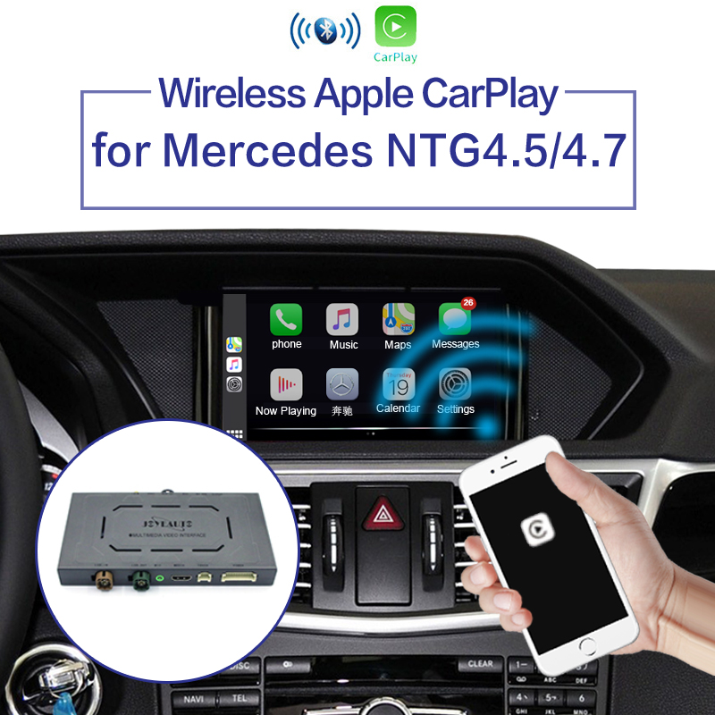 WIFI Wireless Apple Carplay Android Auto Mirror A B C E G GL ML Class For Mercedes NTG4.5 4.7 Car Play Airplay iOS 13 title=