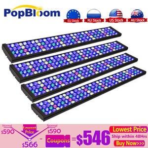 PopBloom 4 шт. светодиодное освещение для аквариума, светодиодное освещение для морских коралловых аквариумов, лампа для аквариума, умный регул...