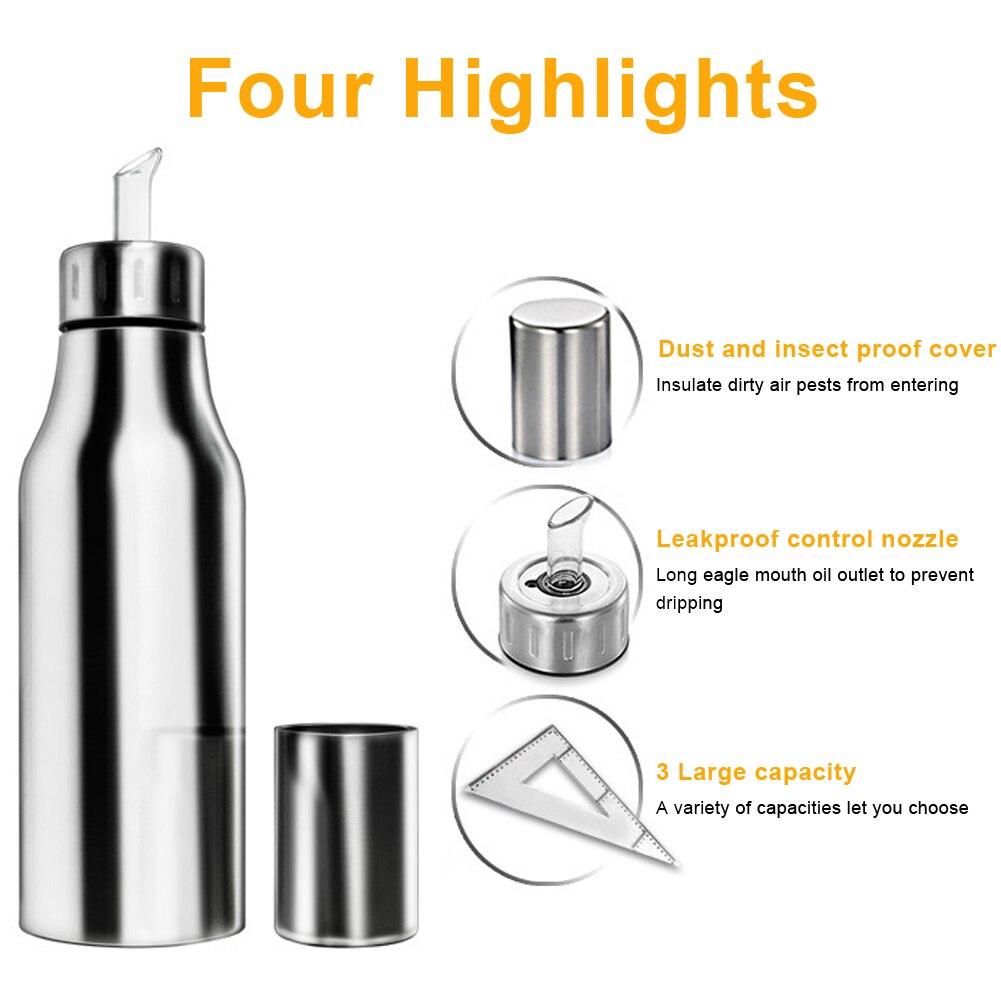 500ml Stainless Steel Oil Dispenser Bottle Vinegar Pot Oil Pot Eagle Nozzle Vinegar Sauce Dispenser for Home Kitchen Restaurant