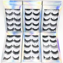 False-Eyelashes Makeup Naturally Classic 5-Pair Long Fiber Black Thick