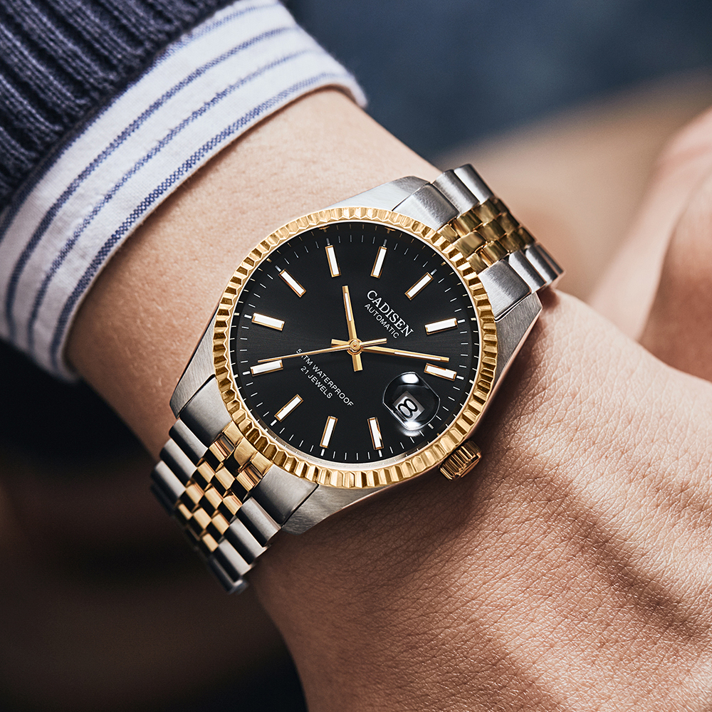 CADISEN Men Mechanical Watch Top Brand Luxury Automatic Watch Business Stainless Steel Waterproof Watch Men relogio masculino