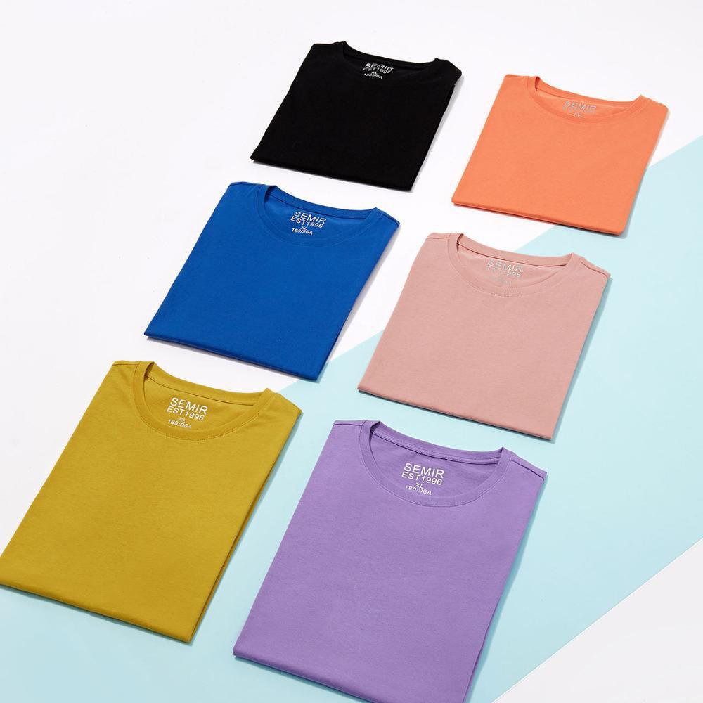 Мужская хлопковая футболка SEMIR, белая Повседневная летняя футболка, модная футболка, 2020