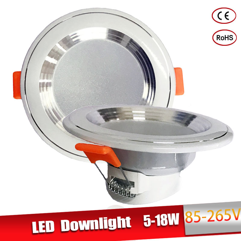 LED Downlight 3W 5W 9W 12W 15W 18W LED Ceiling Round Recessed 220V 230V 240V Bedroom Kitchen Indoor LED Panel Light