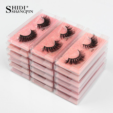 SHIDISHANGPIN Eyelashes Wholesale 3D Mink Lashes Natural False Eyelashes Long faux cils Fake wholesale lashes IN bulk