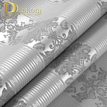 Roll Wall-Paper Embossed-Texture Bedroom Home-Decor Luxury Silver Living-Room 3D Strip