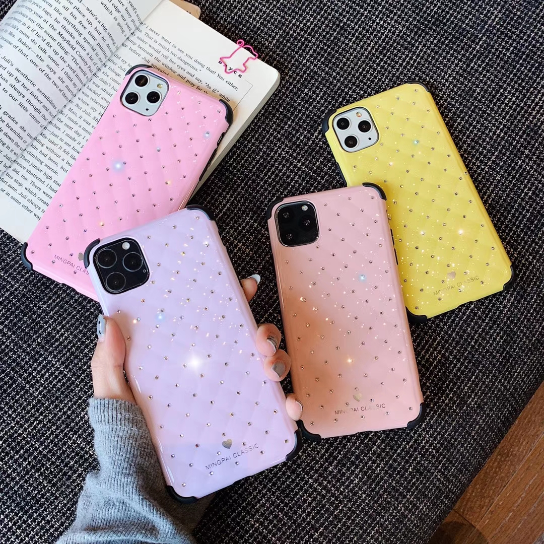 Street fashion phone case for apple 11 X 7 XR 11Pro 11ProMax diamond shockproof and shatter-resistant protective cover