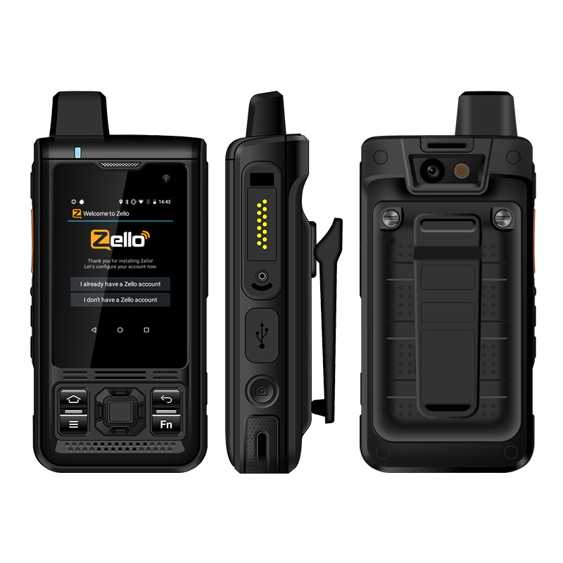 UNIWA B8000 IP68 Waterproof POC Walkie Talkie 2.4'' Touch Screen Android 8.1 Quad Core 8GM ROM 4000mAh NFC Loud Speaker 4G LTE