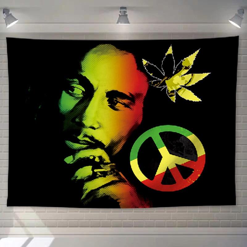 Tenture mural Rastafari Jamaïque | Rasta-Lion