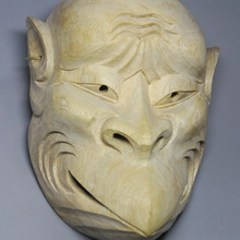 20.5x16x 6.6 CM Hand Carved Japanese Noh Kappa Mask MASK - QH023