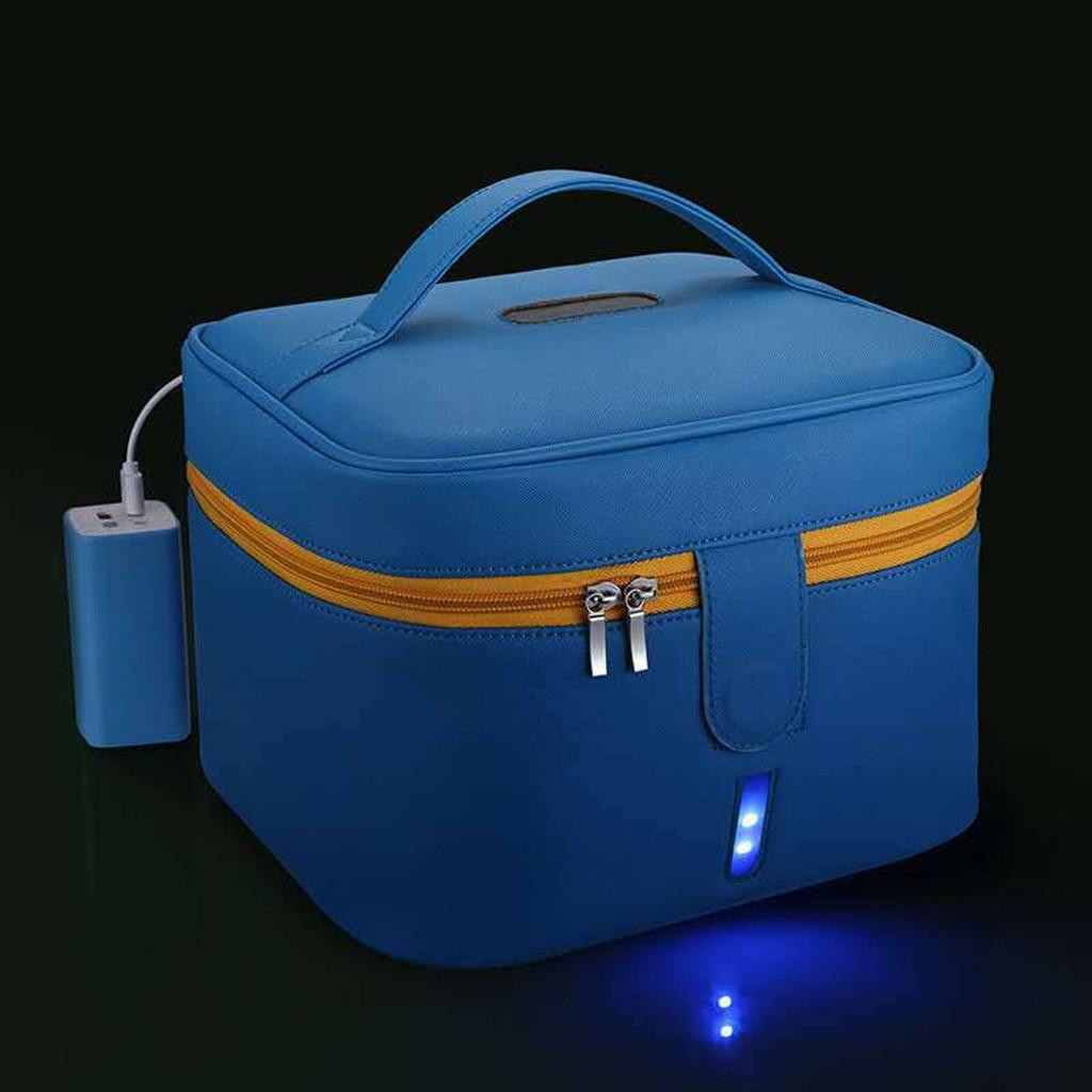 Vegetation - Blue Disinfecting Box UV Sterilizer Box USB Disinfecting Bag Cleaner Disinfection Cabinet Sterilization Box Storage Box