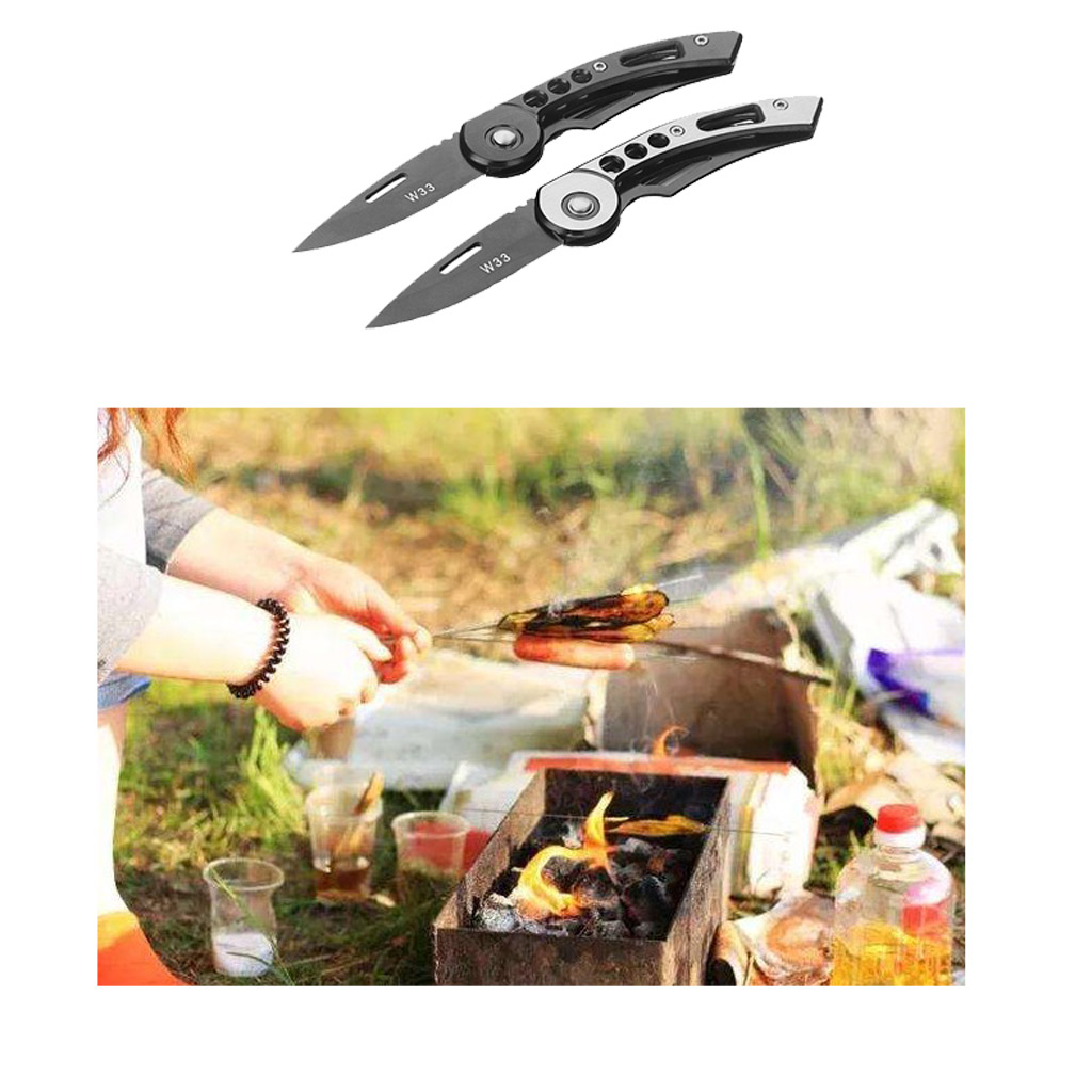 Portable Mini Folding Knife With Pocket Clip Outdoor Survival Camping Fishing Tool Pocket Knives Spring Assisted With Clip