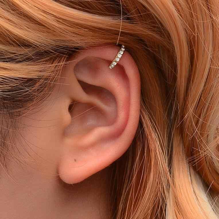 Clips orejas ohrklemme con estuche pendientes oreja aretes Fake Plug sin agujero