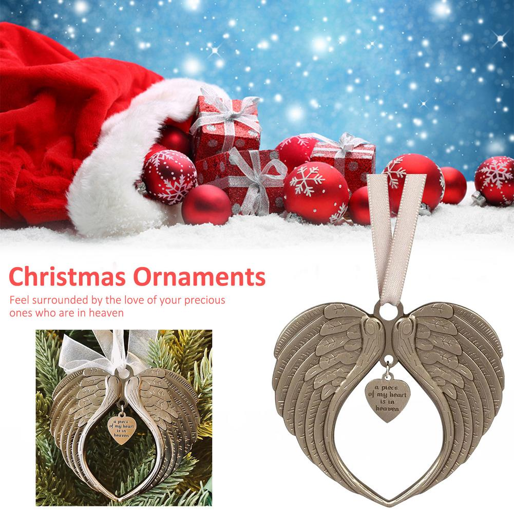 Christmas Tree Ornament Angel Wing Wind Bell Heaven Pendant Home Decoration