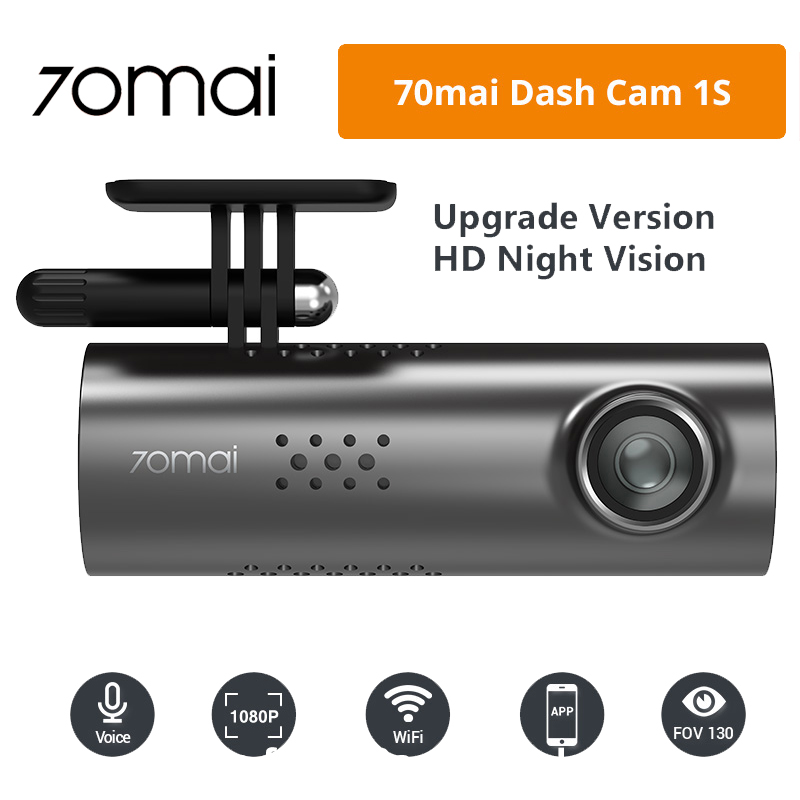 70mai Car-Dvr Voice-Control 1080P Original Night-Version HD 1S English Multi-Language title=