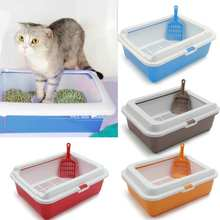 Bedpans Litter Cat-Pot Cat Toilet Semi-Closed Pine Crystal Anti-Splashing Bentonite/tofu-Available