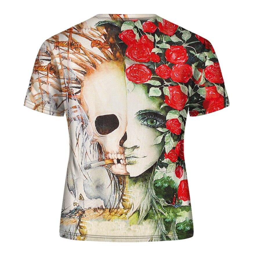 DE001-T恤短袖模版-后