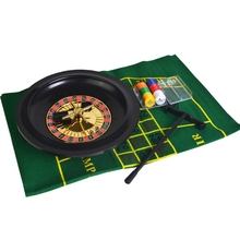 Game-Set Table-Cloth Roulette Poker-Chips with for Bar Party Borad-Game 10inch New