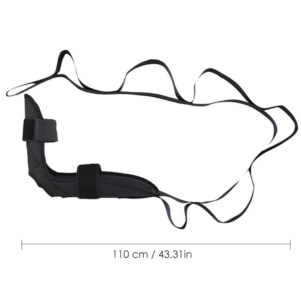 SDBXA Ceintures de Yoga Ceinture d/étirement de Ligament de Yoga Bande Extensible de Ligament de Cheville Correction de Pied dentra/înement de Jambe de Sangle de Chute de Pied Noir