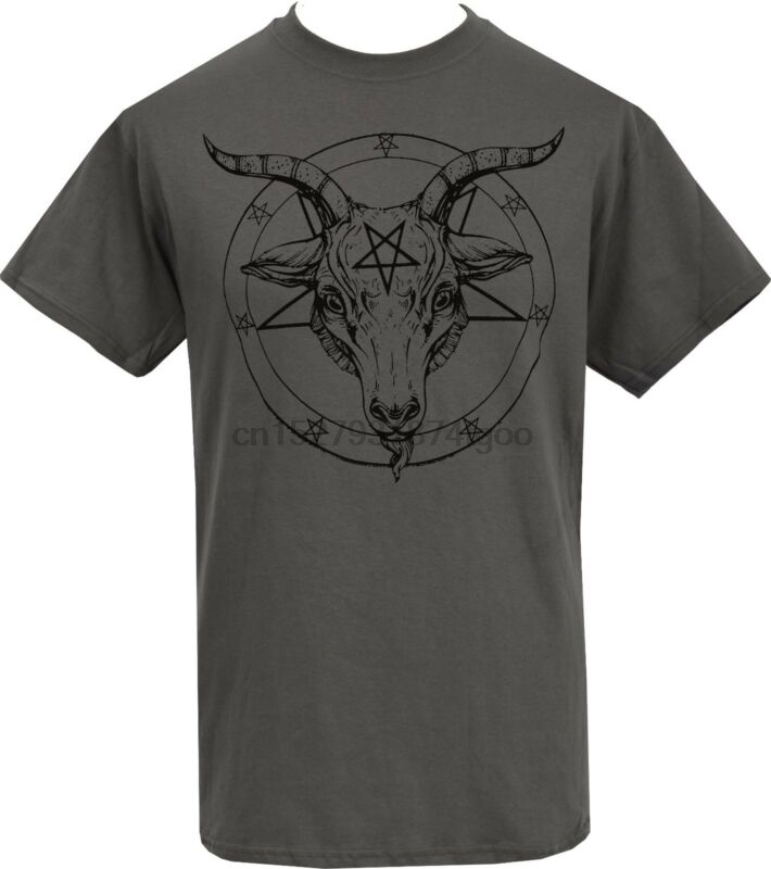 S to 2XL Satan my lord baphomets inverted pentagrams and crosses sigil of bap..