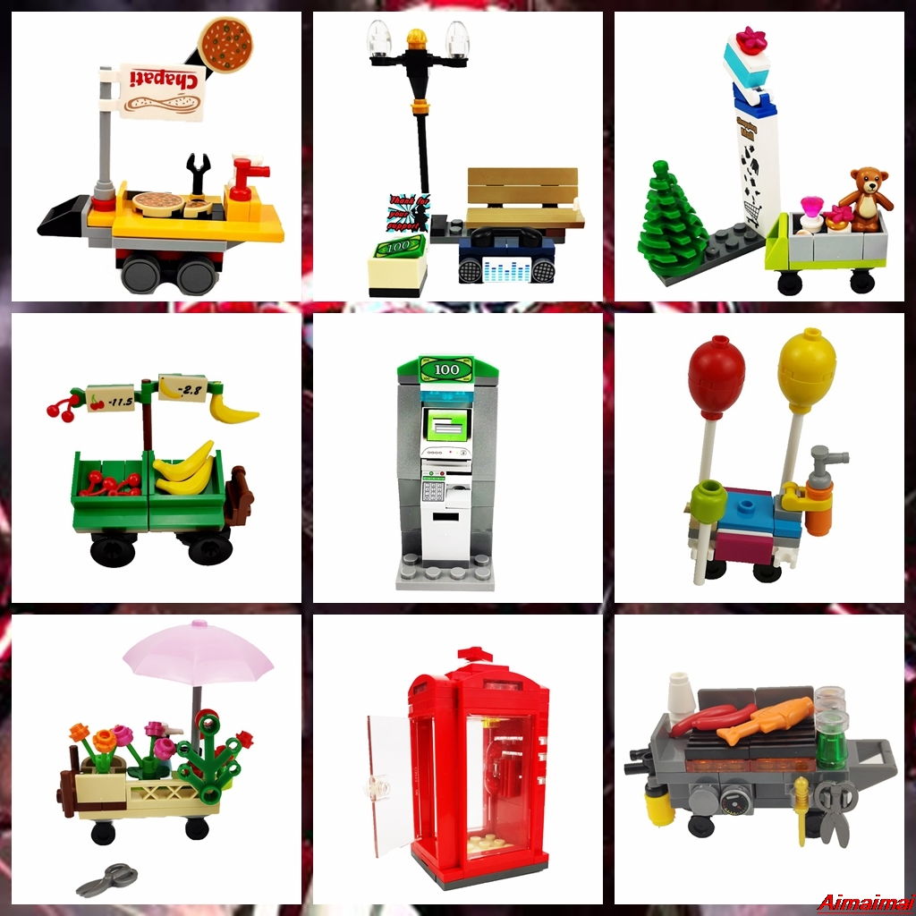 Legoing City Blocks Moc Creator Toys Figures Accessories Particle ATM Model Bricks Enlighten Educational Creator Legoings Blocks