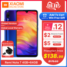 Xiaomi Redmi Note 7 4GB 64GB WCDMA/LTE/GSM/CDMA Quick Charge 4.0 Gorilla Glass Octa Core