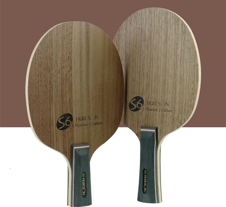 Super Quality Table Tennis Racket Blade Walnut Ayous 5 Plywood 2 Ply Carbon Ping Pong Blade for Senior Players S6 (1)