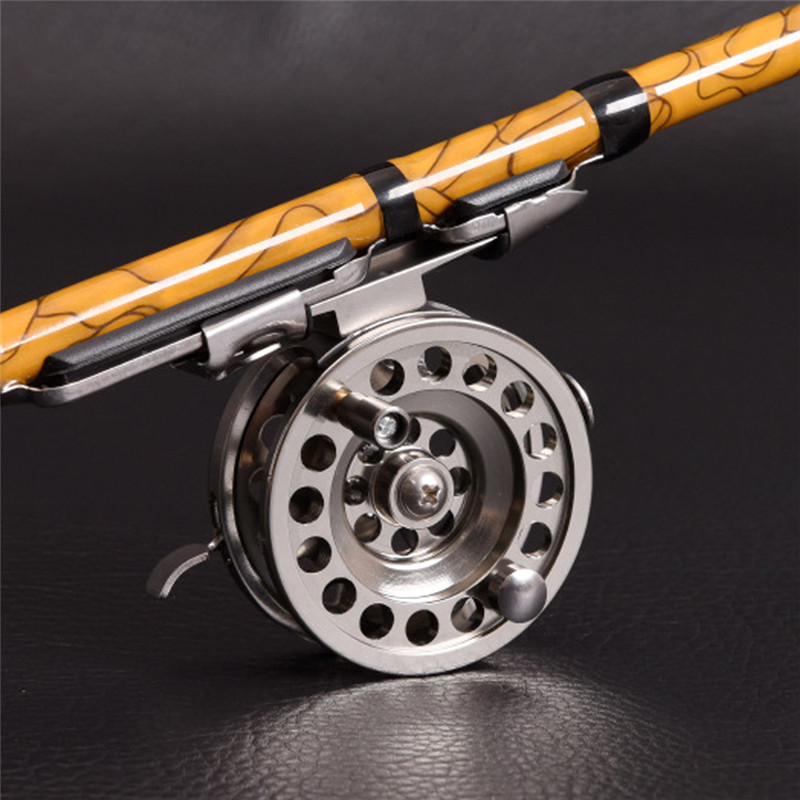 Reels Ball-Bearings Spool-Fishing-Tackle Aluminum-Alloy Mini High-Quality Gear Whee Silver title=