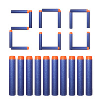200pcs Refill Darts For Nerf Bullets Soft Hollow Hole Head 7.2cm Refill Darts Toy Gun
