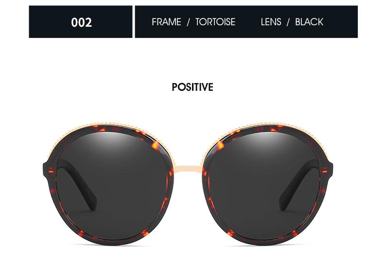 Women Sunglasses Frame Glasses Polariod Lens UV400 Polarized Sunglasses Women Fashion Round Frame Eyewear Glasses (26)