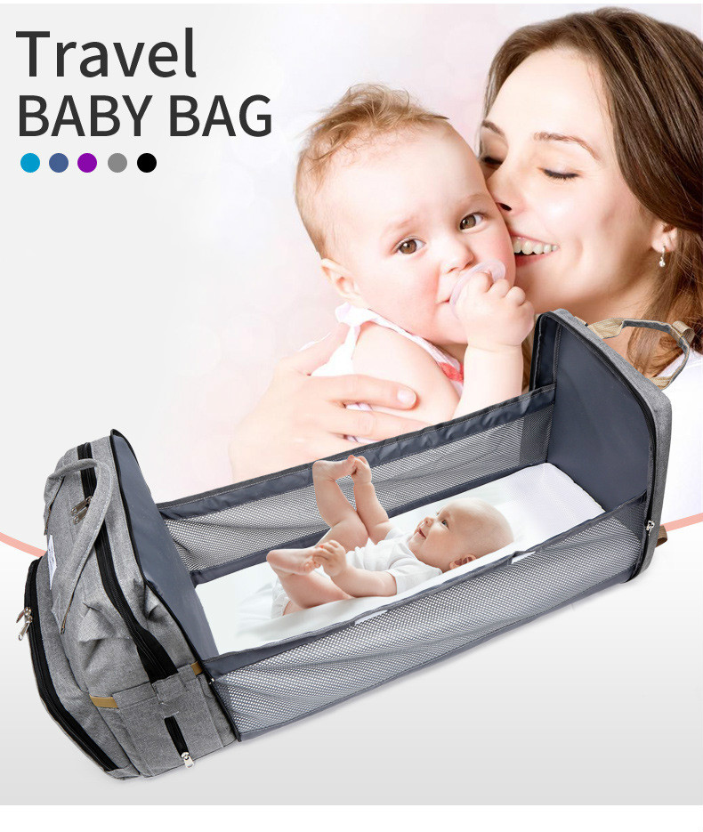 Travel Diaper Changing Backpack with Bed 4