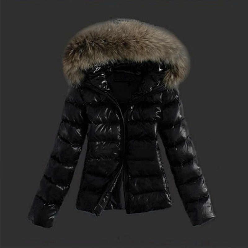 Short Black Parka With Fur Hood
