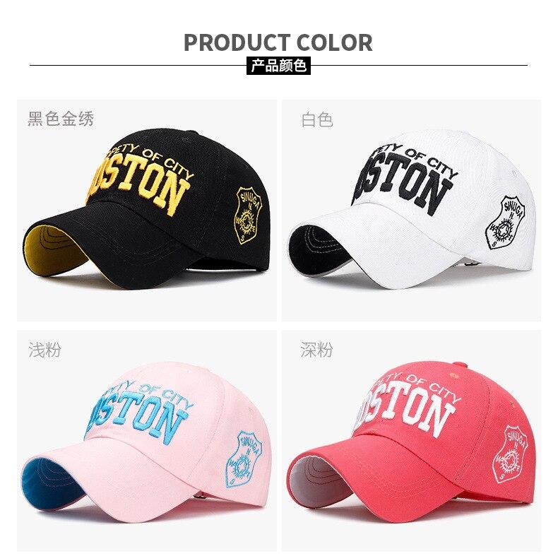 QOHNK Nuevo Sombrero de Verano Carta Boss Printing Gorra de b/éisbol Hombres y Mujeres Moda Hip Hop Hat Youth Outdoor Sun Hat
