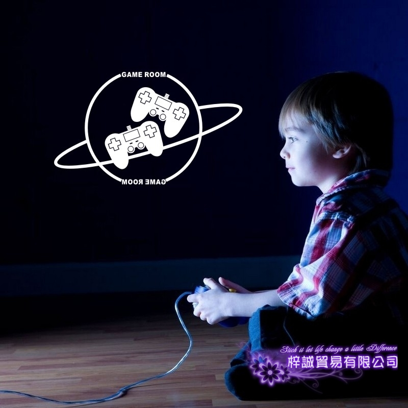 Gamepad Video Game Sticker Play Game Room Decal Gaming Posters Gamer Vinyl Wall Decals Parede Decor Mural Video Game Sticker