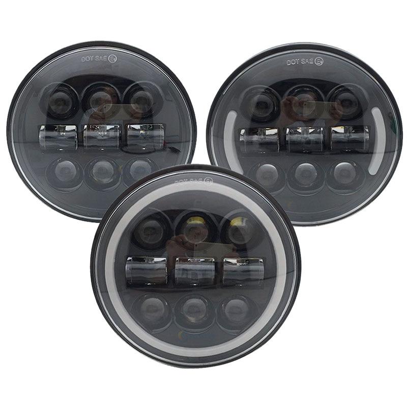 "5-3//4/"" LED Headlight Halo DRL For Yamaha V-star XVS 650 950 1100 1300 Road Star"
