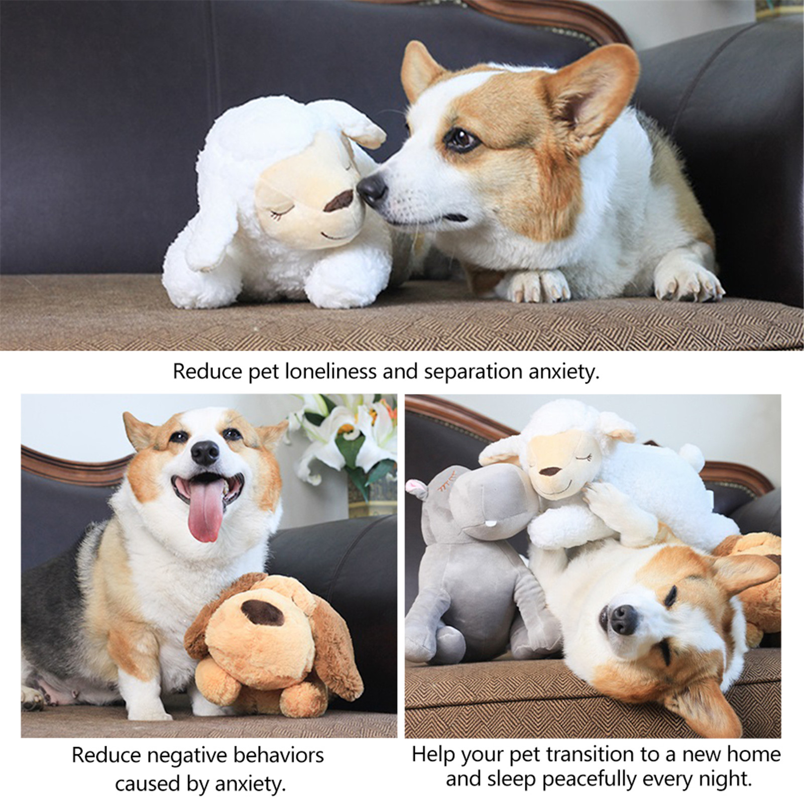puppy comfort toy with heartbeat