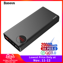 Baseus Power-Bank External-Battery-Charger 20000 Quick-Charge Xiaomi Portable Fast