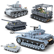 Compatible with legoingly Military World War German Tank Vehicles ww2 Army Mini Soldier Figures Brick Weapon Guns Building Blocks Toys For Children Gift(China)