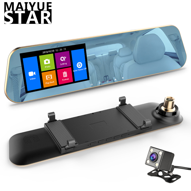 Car DVR Recording G-Sensor Car-Rearview-Mirror Dashcam Came Star Full-Hd Dual-Lens Automatic title=