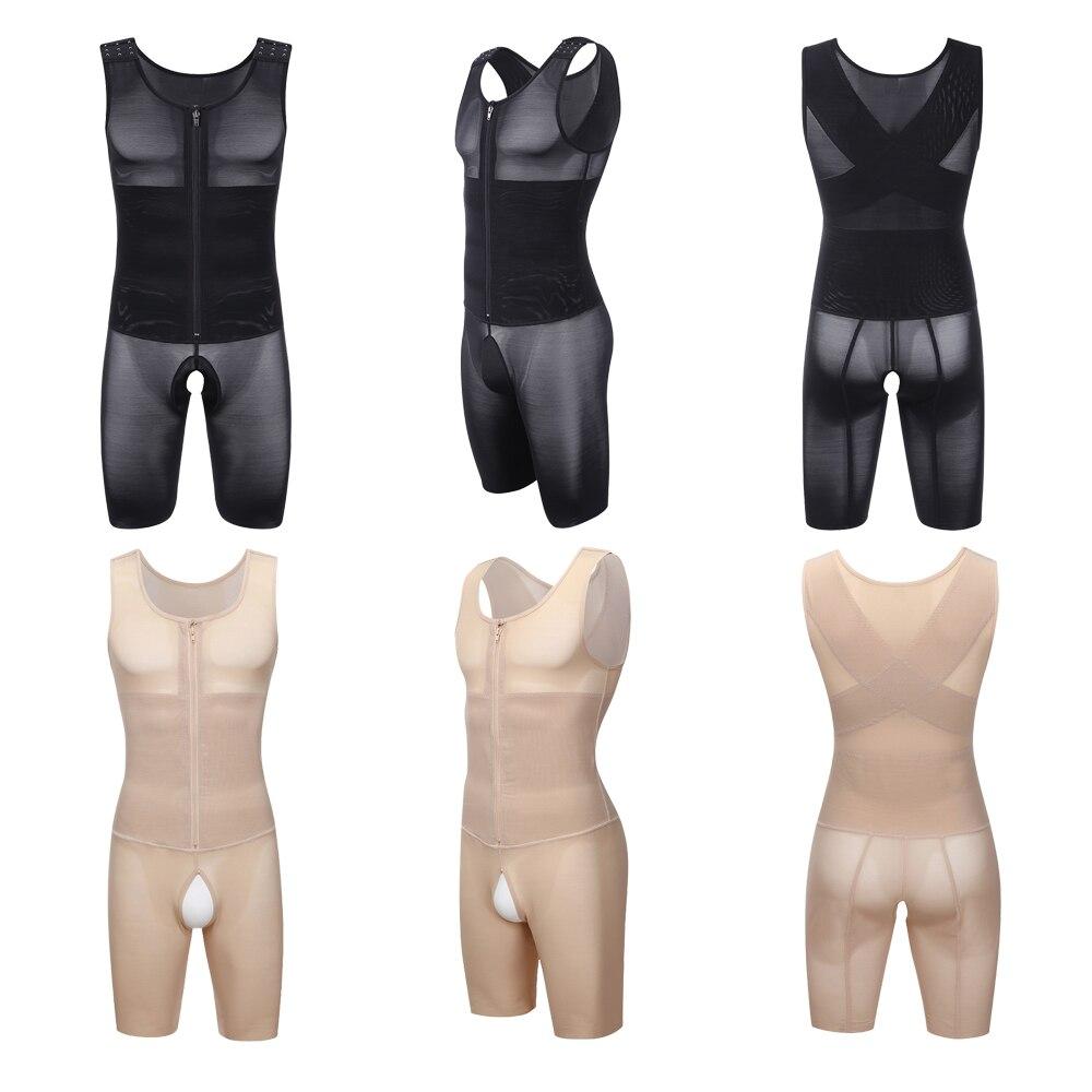 Corset Secret Plus Size Men/'s Shapewear Tight Underwear Men Body Shaper Tummy Control Waist Control Bodysuit Men Slimming Corset