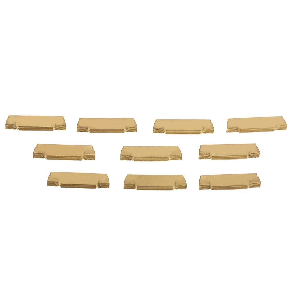 10pcs MGMN200-G Carbide Inserts 2mm Thickness Golden Cutter Parting off Blades for MGEHR/MGIVR Grooving Cutting Tool