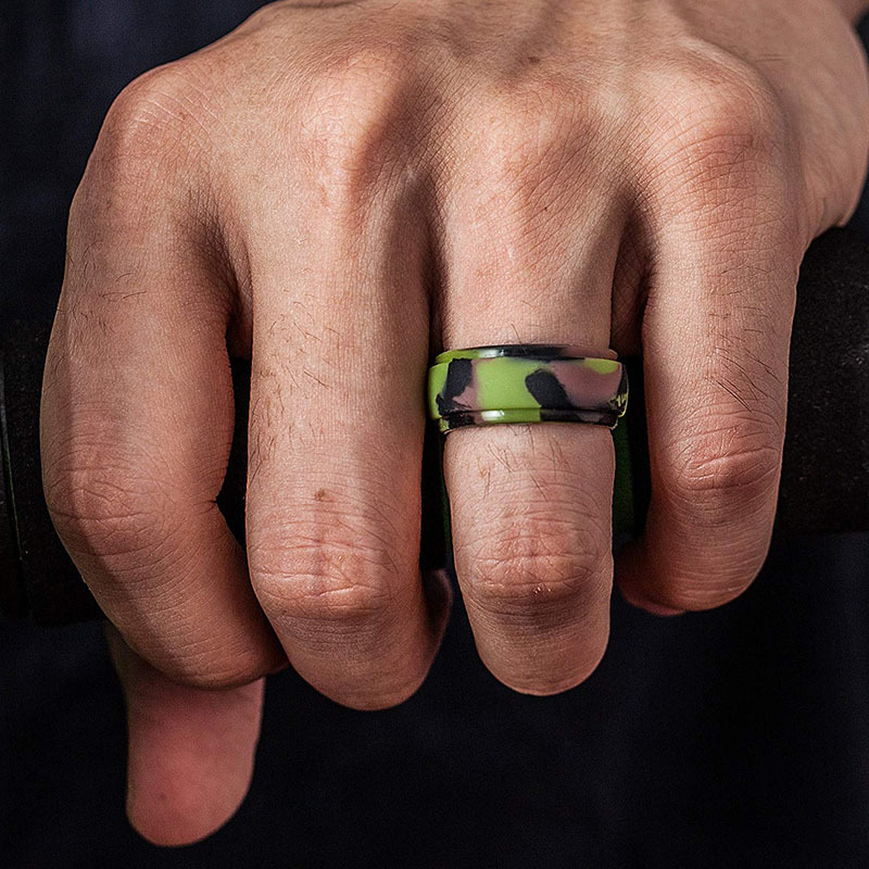 Personality Turn Digital Ring Men/'sRing Personality Men/'s Single Tail Ring with Accessories  Titanium Steel Index Finger Ring