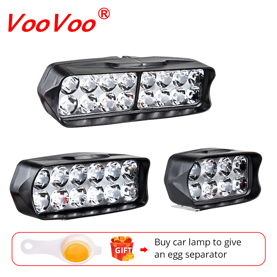 Voovoo Moto Headlamp Spotlight Working-Lamp Motorbike-Spot LED DRL ATV 6500K 12V title=