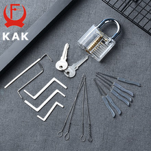 Practice-Padlock Extractor-Set Wrench-Tool Visible-Lock-Pick Keys Locksmith Transparent