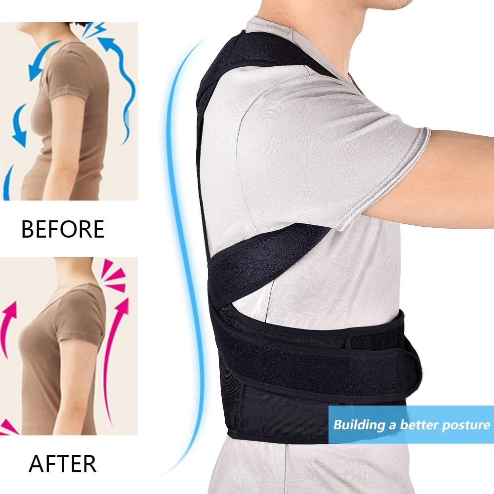 Person - Back Waist Posture Corrector Adjustable Adult Corset Correction Belt Trainer Shoulder Lumbar Brace Spine Support Belt Vest