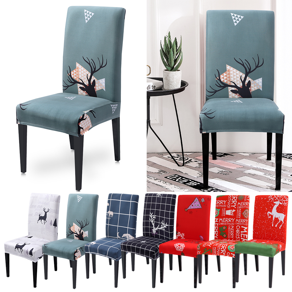 Removable Floral Dining Room Chair Seat Covers Pads Stretch Home//Party Decor