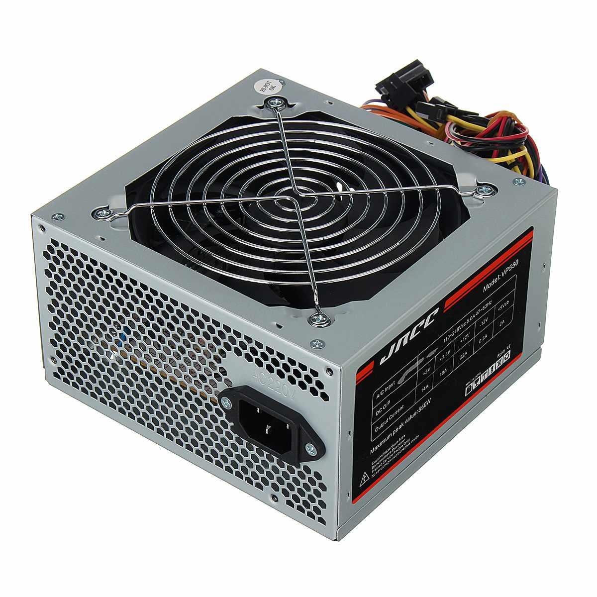 550 Watt ATX Power Supply 12CM Fan Black 20+4 24pin//ATX12V 4pin//SATA//Molex//Pci-e